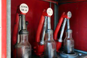 Alte Ölflaschen